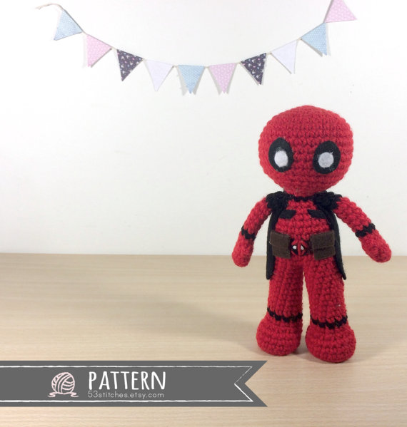 Amigurumi Deadpool Crochet Pattern