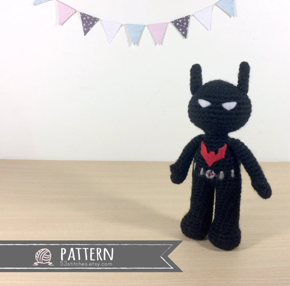 Batman Beyond Amigurumi Crochet Doll Pattern