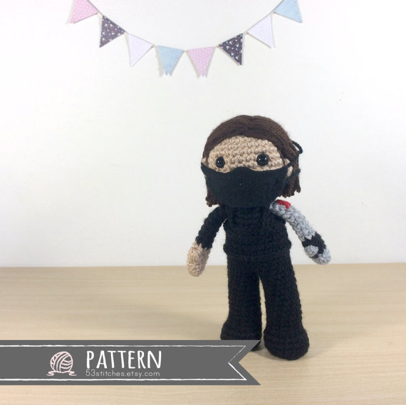 Bucky Barnes Winter Soldier Amigurumi Pattern