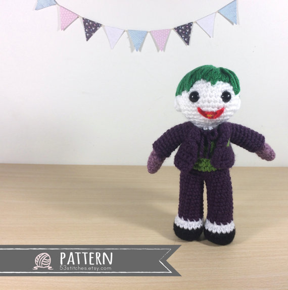 Joker Amigurumi Crochet Doll Pattern