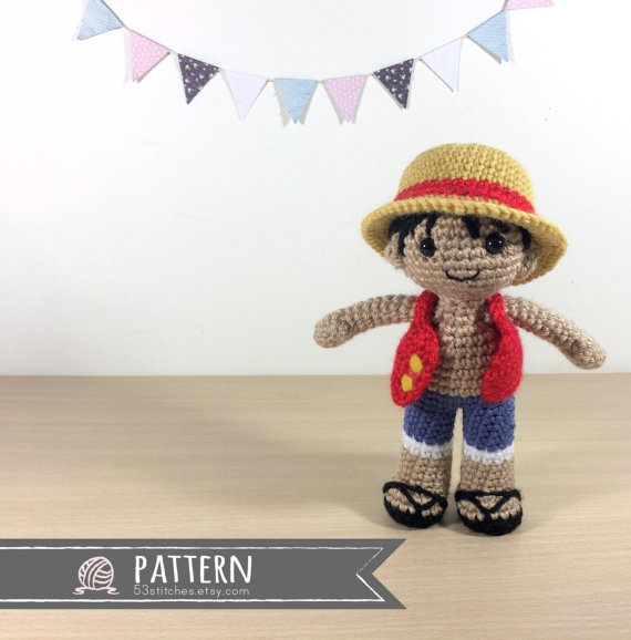 Monkey D Luffy Amigurumi Crochet Doll Pattern