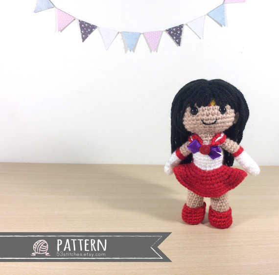 Sailor Mars Amigurumi Crochet Doll Pattern
