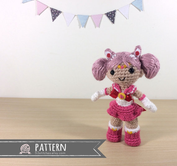 Sailor Mini Moon Amigurumi Crochet Doll Pattern