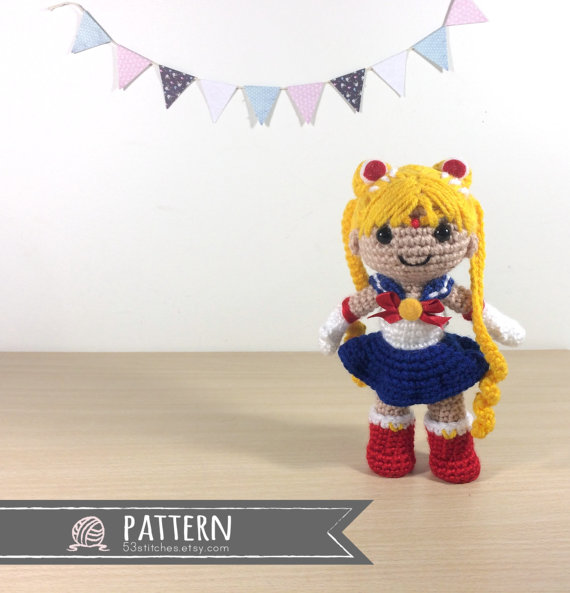 Sailor Moon Amigurumi Crochet Doll Pattern