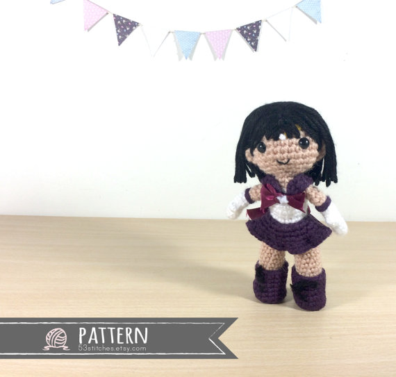 Sailor Saturn Amigurumi Crochet Doll Pattern