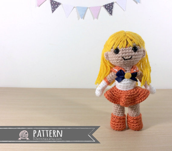Sailor Venus Amigurumi Crochet Doll Pattern