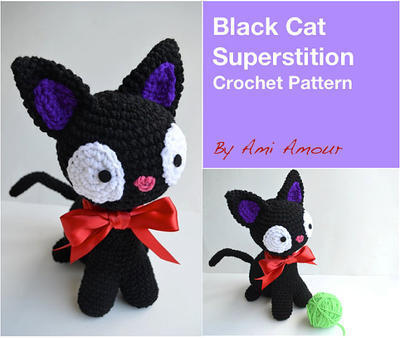 Cat Crochet Pattern Amigurumi Black Cat Superstition PDF