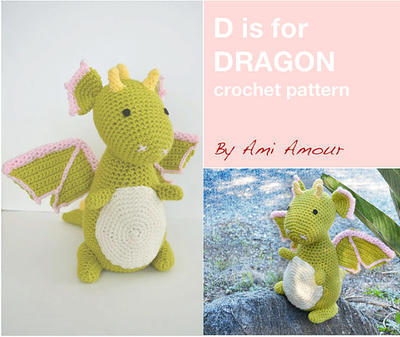 D is for Dragon Pattern Crochet Amigurumi PDF