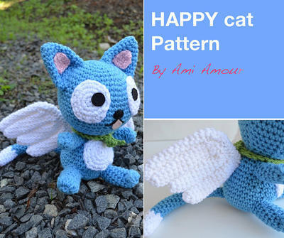 Fly Cat amigurumi pattern