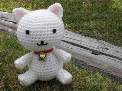 Fortune Cat pattern Maneki Neko amigurumi crochet