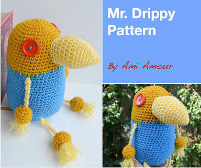 Mr Drippy pattern amigurumi crochet PDF Ni No Kuni