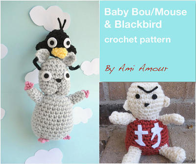 Spirited Away crochet pattern Baby Mouse Blackbird