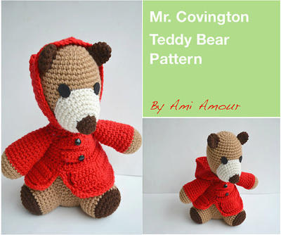 Teddy Bear Pattern Amigurumi Mr. Covington Crochet