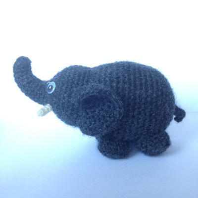 Elephant Amigurumi easy crochet pattern