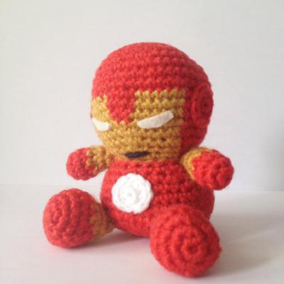 Ironman Amigurumi easy crochet pattern