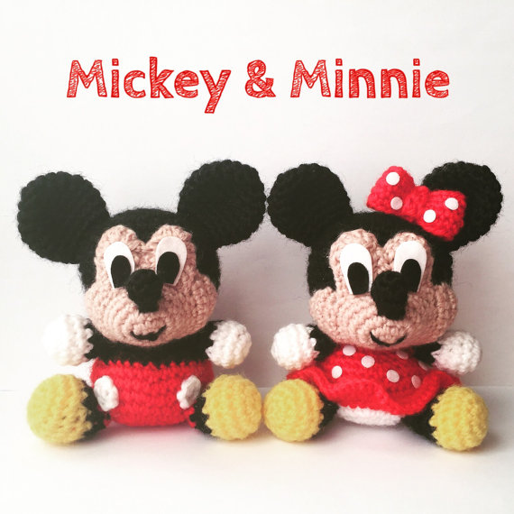 Pack 2 in 1 - Mickey Mouse and Minnie Mouse Disney Amigurumi Pattern