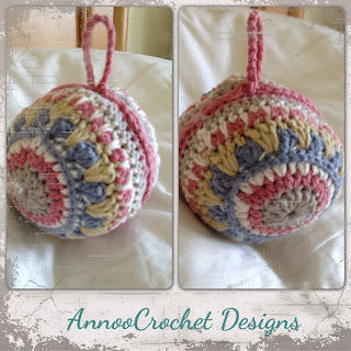 Gorgeous Crochet Xmas Ornament Mandala Inspired