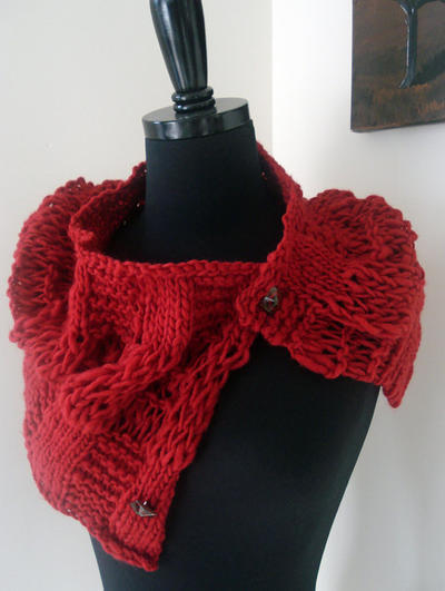 New Thick Thin Woolie Cowl knitting pattern