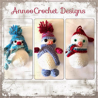Trio of Snow Men Ornaments