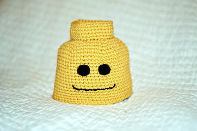 Crochet Block Man Beanie Newborn to Adult Pattern