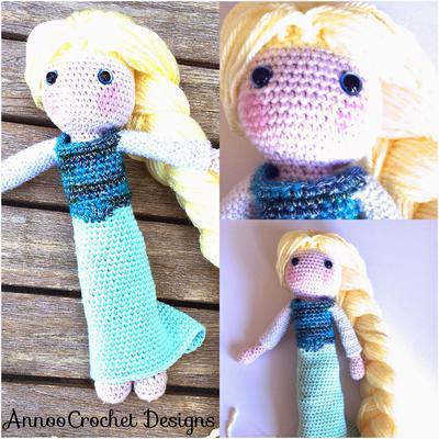 Elsa Crochet Doll