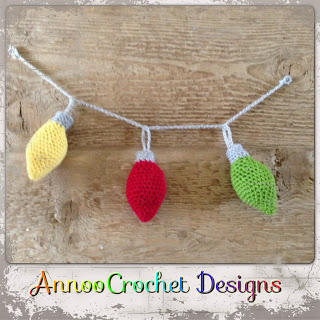 Free Crochet Christmas Ornament Garland Pattern