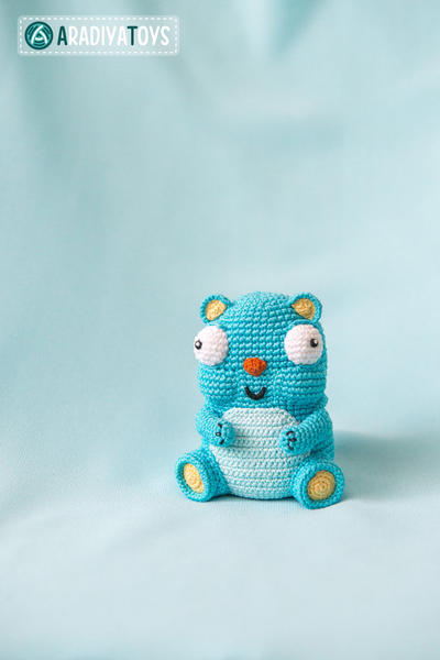 "Crochet Pattern of Bear Diego from ""AradiyaToys Design"""
