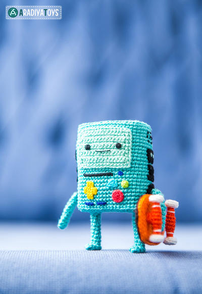 "Crochet Pattern of BMO from ""Adventure Time"""
