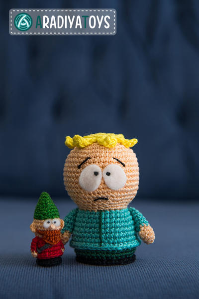 "Crochet Pattern of Butters and Underpants Gnome from ""South Park"""