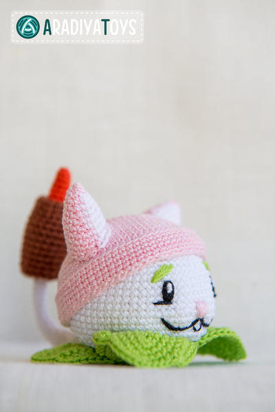 "Crochet Pattern of Cattail from ""Plants vs Zombies"" (Amigurumi tutorial PDF file)"