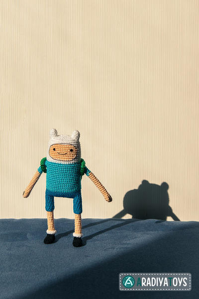 "Crochet Pattern of Finn the Human from ""Adventure Time"""