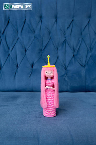 "Crochet Pattern of Princess Bubblegum from ""Adventure Time"""