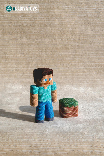 Crochet Pattern of the Guy with piece of dirt