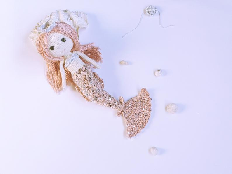 Little Mermaid Arousa crochet amigurumi pattern