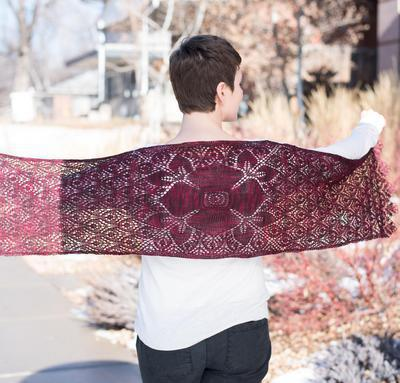 Crimson Blossom Shawl Kit