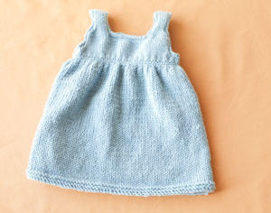 Knitting Pattern Baby Sweater Dress