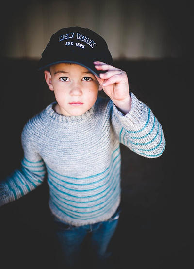 Boys Striped Pullover Crochet Pattern No. 11