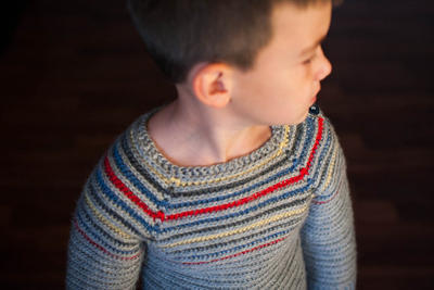 Striped Pullover Crochet Pattern No. 4