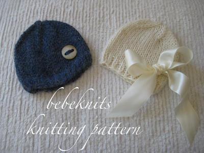 Alpaca Baby Hat Knitting Pattern