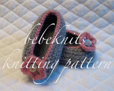 Baby Ballet Slipper Knitting Pattern