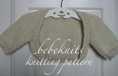 Baby Bolero Style Sweater Knitting Pattern