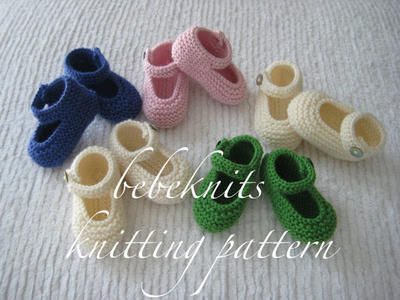 Baby Janes Booties Knitting Pattern