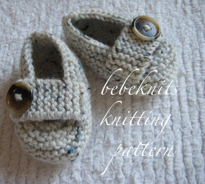 Baby Loafer Slipper Knitting Pattern