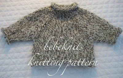 Bebeknits American Girl Doll Raglan Pullover Sweater Knitting Pattern