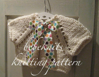 Bow Tied Baby Cardigan