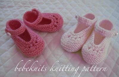 Eyelet Baby Bootie Knitting Pattern