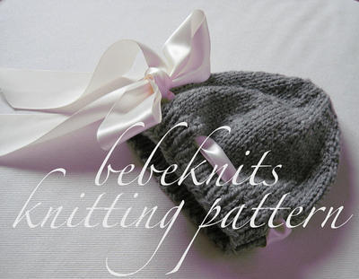 Eyelet Baby Hat Knitting Pattern for 3 Sizes