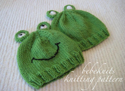 Little Froggie Baby Hat