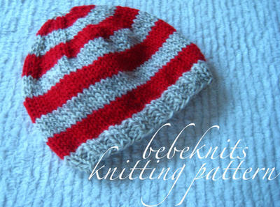 Perfect Striped Baby Hat