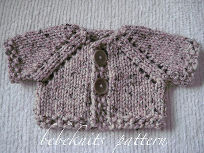 Quick Knit Button Baby Cardigan